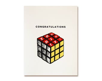 Congratulations Card - You Did It