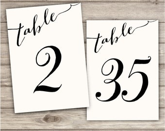 Table Numbers Paper Tables 1-36 Instant Download Wedding Baby Shower Bridal Shower Table Number template Table numbers