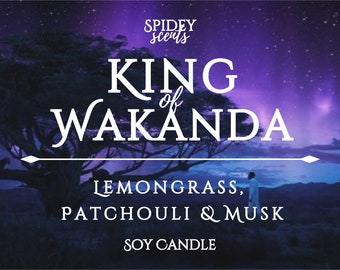King of Wakanda Soy Candle