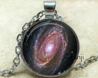 Galaxy pendant, spiral galaxy, Milky Way pendant, space art pendant, astronomy, galaxy necklace, NASA pendant, galaxy, Pendant #SP204P