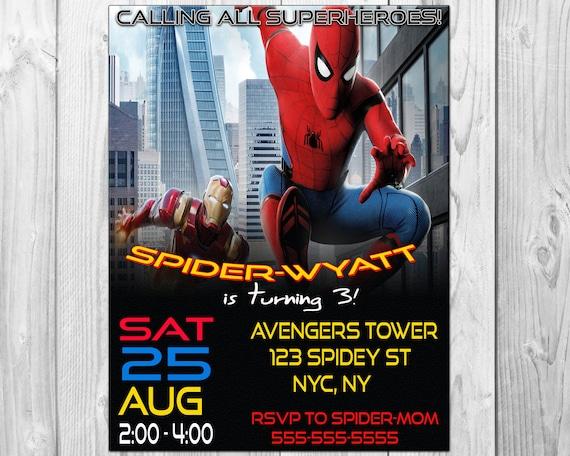 Spiderman birthday party invitations spiderman invitation spiderman birthday party invitations spiderman invitation spiderman homecoming spider man solutioingenieria Images