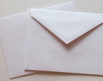PPE41  Qty. of 50 A2 70 lb. White Paper Envelopes 4 3/8 x 5 3/4 (11.11cm x 14.61cm)