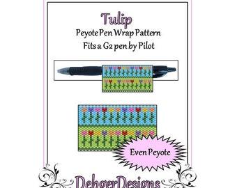 Bead Pattern Peyote(Pen Wrap/Cover)-Tulip