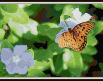 Cross Stitch Butterfly Pattern - PDF Download - Instant Access