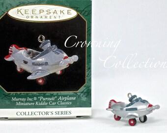 1997 Hallmark Murray Inc Pursuit Airplane Miniature Kiddie Car Classics Keepsake Ornament Christmas Vintage