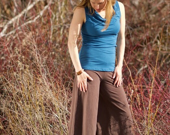 Inventory SALE - Organic Hemp Palazzo Capri - Organic Women's Clothing - Eco-friendly