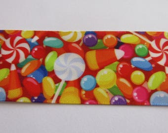 satin ribbon, set of 2 meter, ribbon 38mm wide, candy ribbon
