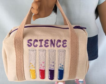 Science Duffle Bag for American Girl/18 Inch Doll/Luciana