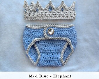 baby boy clothes, baby boy coming home outfit, baby boy hat , baby boy outfit, baby boy gift, prince crown, baby crochet crown diaper cover
