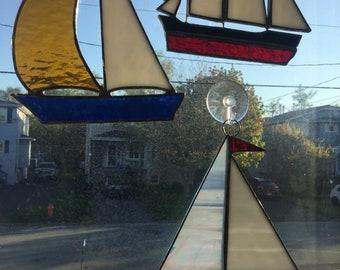 Stainedglass sailboats