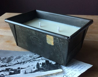 Vintage Tala baking tin, loaf tin, created as a Tuscan Herbs-scented soy candle