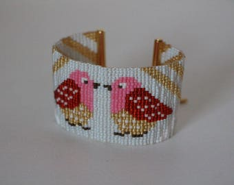 Friendship Bracelet woven with Miyuki beads