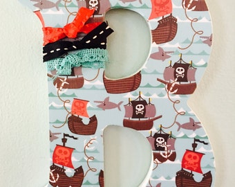 Decorative Letter B with pirate theme