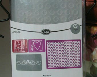 De-Stashing Sale: Brand New Sizzix Set of 4 Embossing Folders 656506, Paper Crafting, Scrapbooking, Card Making, Texture Plates, Mixed Media