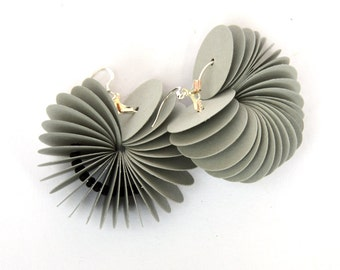 gray: Dangle Earrings CARTA - made of cardstock