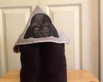 Hooded Bath Towel-Dark Villian...Beach Towel....Pool Towel...Gift