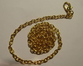 gold chain, 42cm with lobster clasp