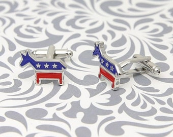 ON SALE Democratic Republican Donkey Cufflinks