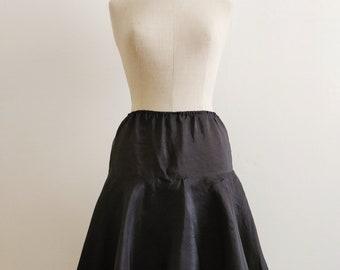 Circle silk organza skirt