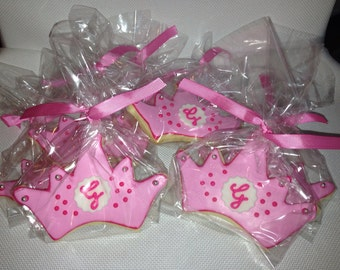 Custom Princess Cookies - You Chose the Colors and Personalization