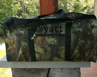 Monogrammed Duffel Bag Camoflauge Personalized Gift