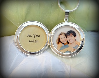 As You Wish - 2 Photos Locket Necklace