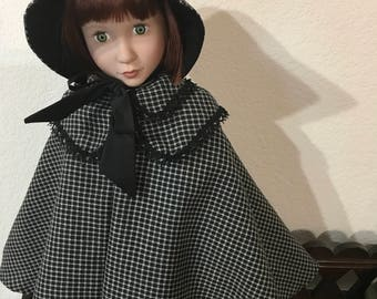 Cape and Bonnet for 16 inch Doll