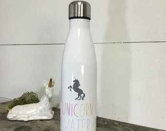 Unicorn Water - Water Bottle for Unicorn Lovers - Unicorn - Water Bottles - Stainless Steel Water Bottle - Reusable Water Bottle