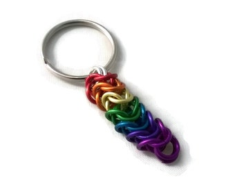 Rainbow Keyring - LGBT, Gay Pride Keychain, Bag Charm