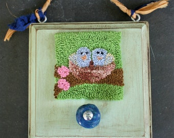 Nest in Spring Punchneedle Embroidery Pattern
