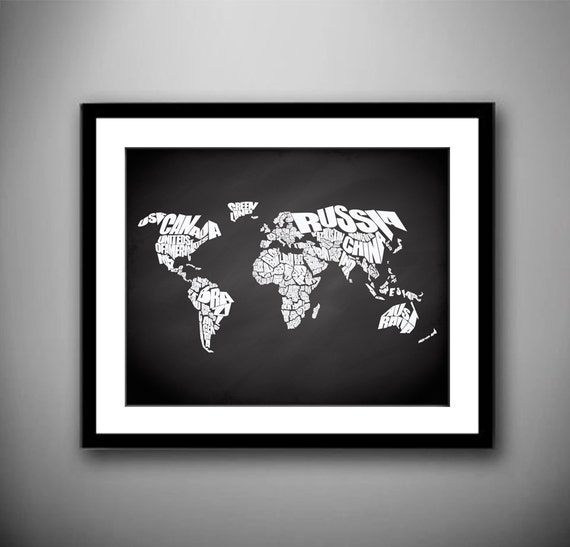 World word map on chalkboard background quote map print world word map on chalkboard background quote map print canvas world map chalkboard map home decor canvas typography world map stencil gumiabroncs Images