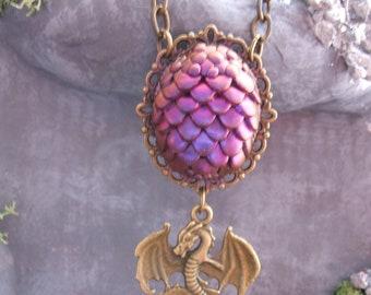 Purple Dredge Egg Necklace