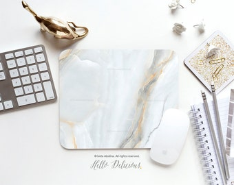 Marble Mousepad Mouse Pad Faux Gray Marble Print Mouse Mat Mouse Pad Office Mousemat Rectangular Mousemat Marble Mousepad Round 10.
