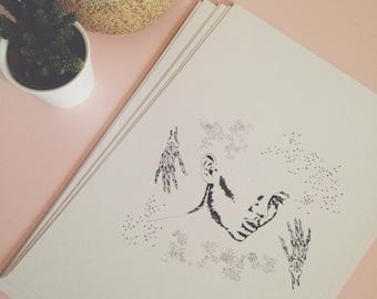 Face//Skeleton Art Print