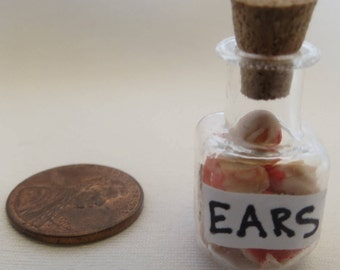 Dollhouse Miniature Halloween  bottle of Ears