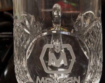 Waterford Crystal Molson 14oz Tankard NIB