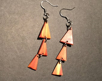 Wood Earrings (Triangle)
