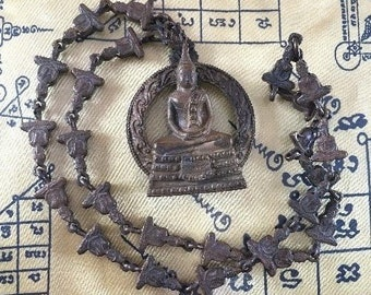 Thai Buddha Amulet LP Sothorn Pendant Necklace Blessed Sacred Lucky Car Hanging Safety Miracle
