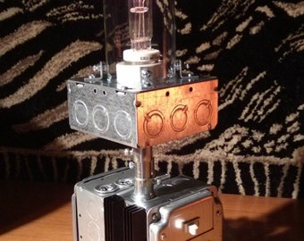 Singularity,  SteamPunk Lamp, Extreme Industrial Lamp, Table Lamp, Lighting