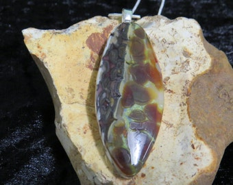 Brown Glass Pendant-Fused Glass Pendant-Fused Glass-UK Seller-Brown Glass Necklace-Fused Glass Jewelry- ortoise Shell-Pebble Technique