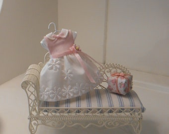Child's Pink & White Party Dress