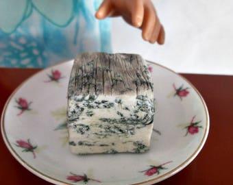 Polymer Clay Miniature Food,  Blu di Bufula Cheese, 1/3 Scale Miniature Food for American Girl Dolls, marysremedies