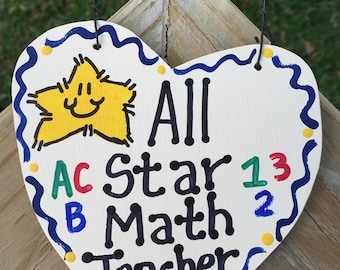 Math Teacher Gifts 5030 All Star Math Teacher Handmade