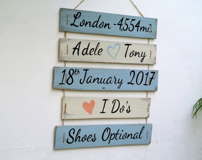 Wedding Rustic Destination sign. I Do's Shoes optional. Nautical Beach Wedding Decor