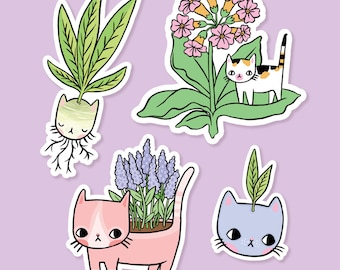Plant Kitty Vinyl Stickers