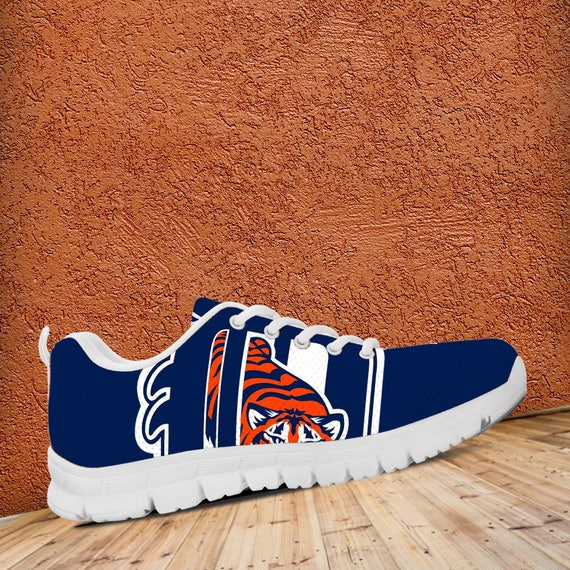 Ladies Fan Mens Sneakers Tigers White Sizes Baseball Trainers Unofficial Custom Detroit Shoes zfwTvxE