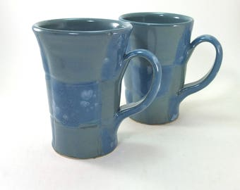 pair of fantastic blue mugs sold together for one great price