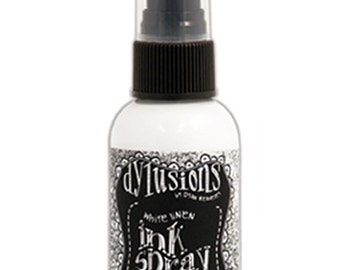 Dylusions Ink Spray White Linen - Acid Free Ink Spray - Fine Mist Ink Spray - White Ink Spray - Vibrant Ink Spray - White Linen Spray 17-093