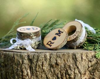Ring Bearer Box Alternative Log Ring Box 5th Anniversary For Her 10th Anniversary For Her 25th Anniversary for Her