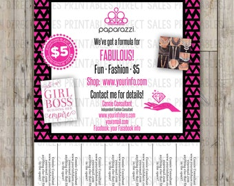 Paparazzi Inspired Tear Off Flyer Posh Flyer